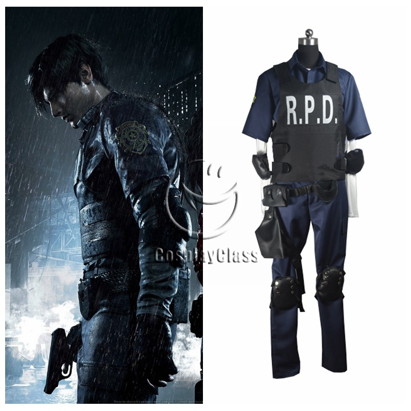 Biohazard Re 2 Resident Evil 2 Leon Scott Kennedy Cosplay Costume