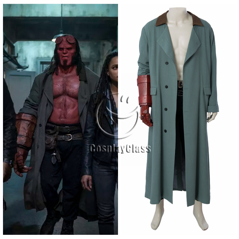 Rise of the Blood Queen Cosplay Anung Un Rama Costume Outfit Coat Mask Hellboy