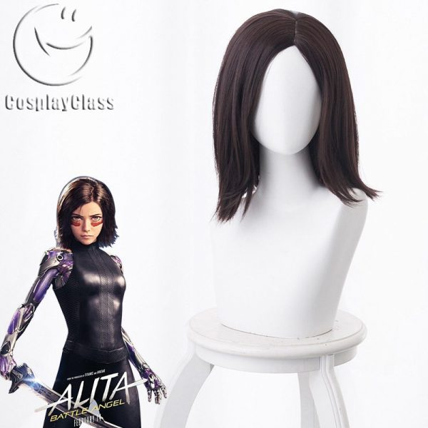Alita: Battle Angel Alita Brown Cosplay Wig
