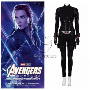 Avengers Endgame Black Widow Battle Suit Cosplay Costume