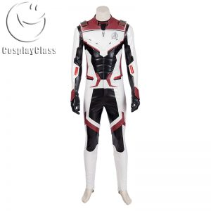 Avengers Endgame Captain America Quantum Battle Suit Cosplay Costume