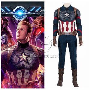 Avengers Endgame Captain America Rogers Cosplay Costume