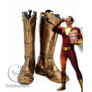 DC Comics Shazam! Billy Batson Cosplay Boots