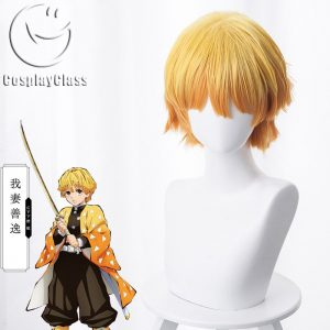 Demon Slayer Agatsuma Zen`itsu Cosplay Wig