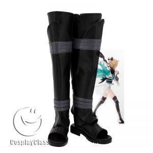 Fate Grand Order FGO Okita Souji Saber Black Cosplay Boots