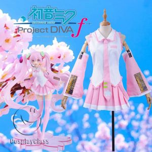 Hatsune Miku Cherry Blossoms Cosplay Costume