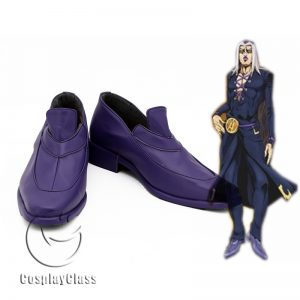 JoJo`s Bizarre Adventure Golden Wind Leone Abbacchio Cosplay Shoes