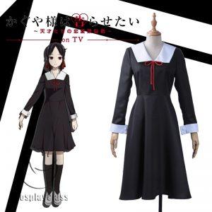 Kaguya-sama: Love Is War Shinomiya Kaguya Black Cosplay Costume