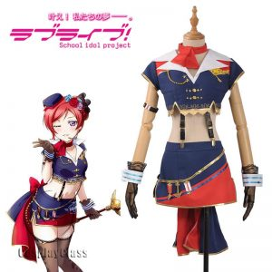 LoveLive! Maki Nishikino Flight Service Cosplay Costume