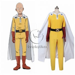 One Punch Man Saitama Uniform Cosplay Costume