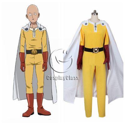 One Punch Man Saitama Uniform Cosplay Costume