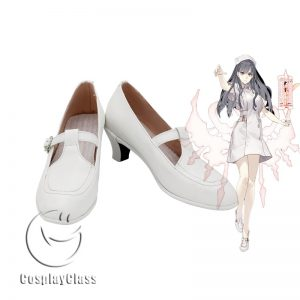 SINoALICE Snow White White Cosplay Shoes