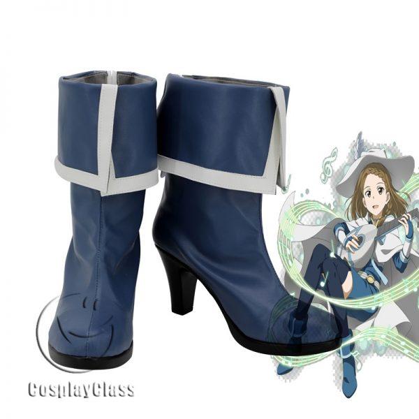 Sword Art Online SAO Yuki Asuna Yuuki Asuna Blue Cosplay Shoes