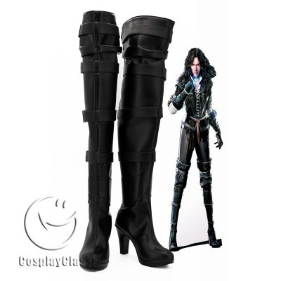 The Witcher 3 Wild Hunt Yennefer Black Cosplay Boots