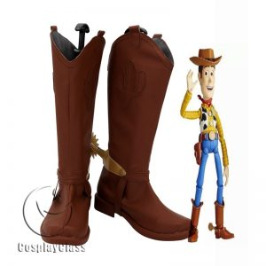 Toy Story Woody Brown Cosplay Boots