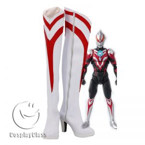 Ultraman Orb Female White Cosplay Boots