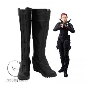 Avengers Endgame Black Widow Black Cosplay Boots