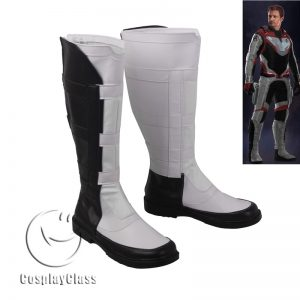 Avengers Endgame Quantum Warfare White Cosplay Boots