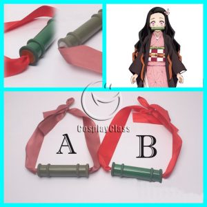 Demon Slayer Kamado Nezuko Bamboo Tube Cosplay Props
