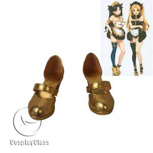 Fate Grand Order FGO Ereshkigal Maid Gold Cosplay Shoes