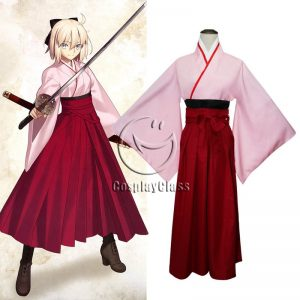 Fate/Grand Order Okita Souji Saber Cos Cosplay Costume