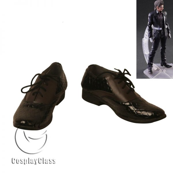 Final Fantasy XV FF15 Ignis Stupeo Scientia Black Cosplay Shoes