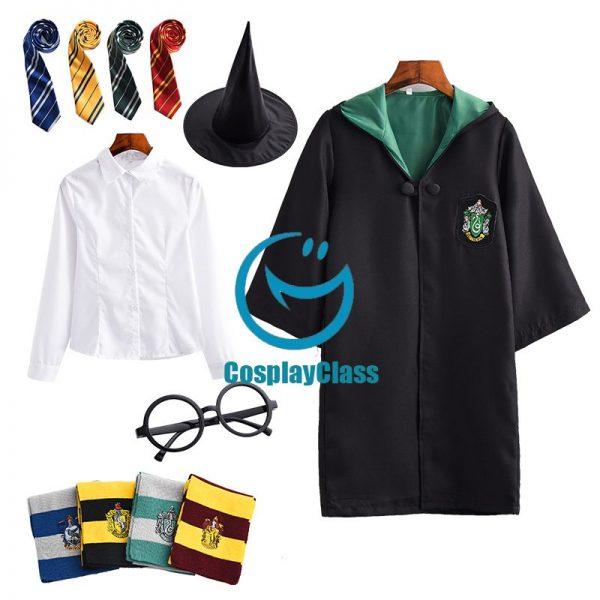 Harry Potter Slytherin Cos Cosplay Costume
