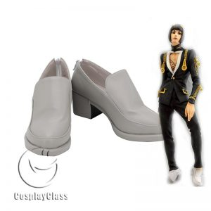 JoJo`s Bizarre Adventure Bruno Bucciarati White Cosplay Shoes