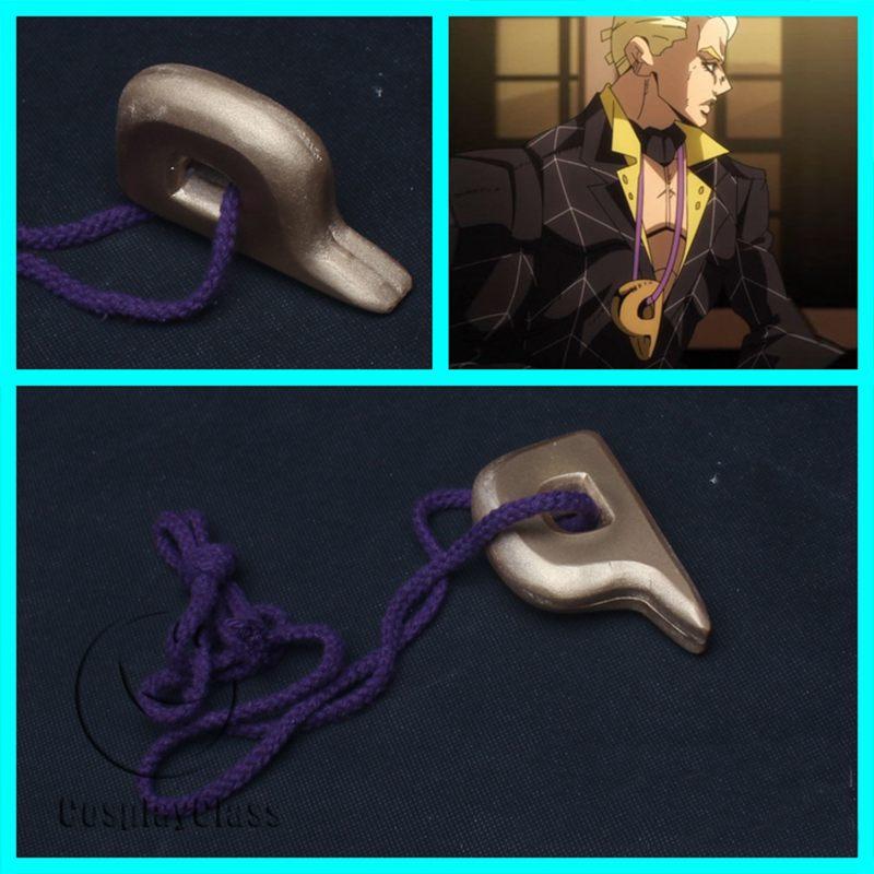 JoJo`s Bizarre Adventure: Golden Wind Prosciutto Necklace Cosplay Props