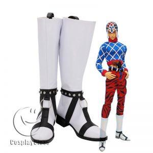 JoJo`s Bizarre Adventure Guido Mista White Cosplay Boots