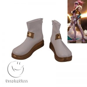 League of Legends LOL Akali The Rogue Assassin White Cosplay Shoes