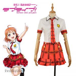 LoveLive! CYaRon! Takami Chika Cosplay Costume