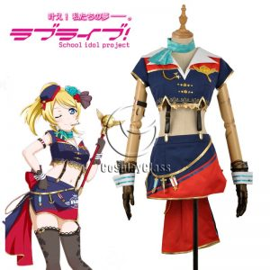 LoveLive! Eli Ayase Ellie Sky Uniform Cosplay Costume