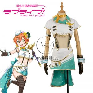 LoveLive! Rin Hoshizora Sky Uniform Cosplay Costume
