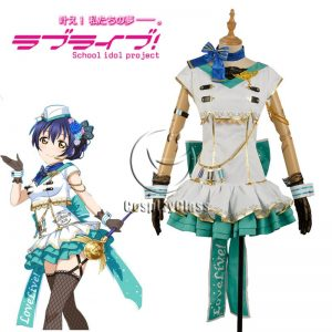 LoveLive! Sonoda Umi Sky Uniform Cosplay Costume