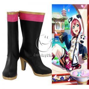 LoveLive!Sunshine!! Ruby Kurosawa Black Cosplay Boots