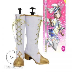 LoveLive!Sunshine!! Watanabe You White Cosplay Boots