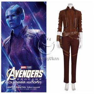Marvel Comics Avengers Endgame Nebula Brown Cosplay Costume