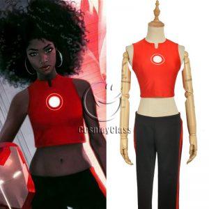 Marvel Comics Ironheart Riri Williams Cosplay Costume