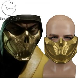Mortal Kombat XI Scorpion Mask Cosplay Props