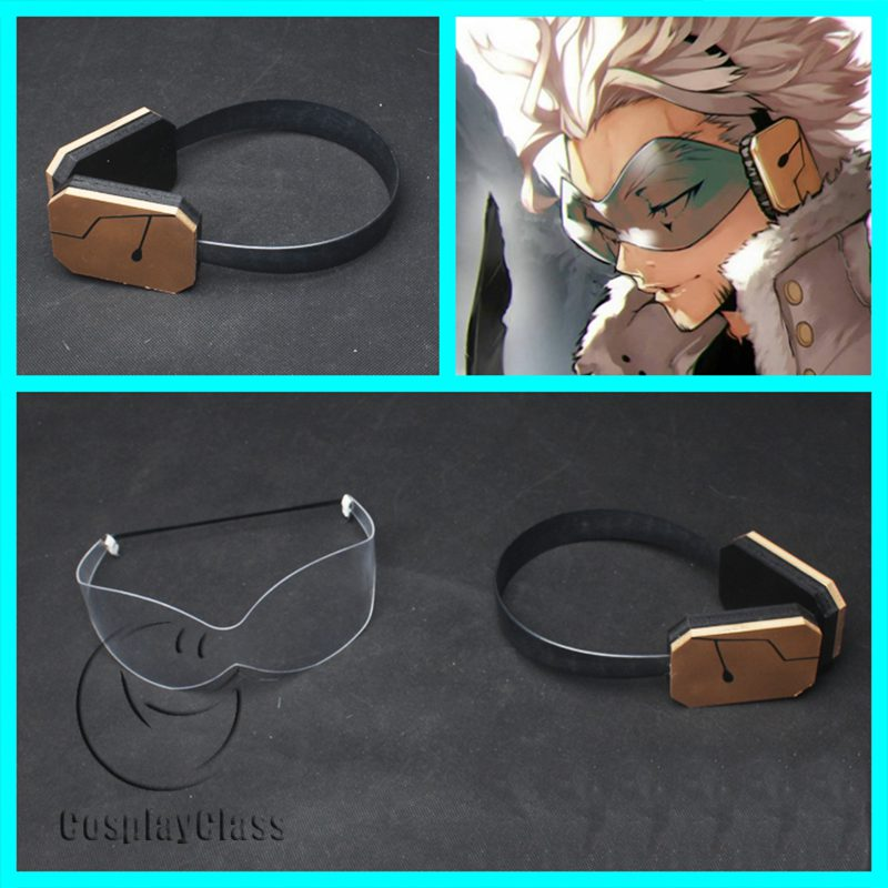 My Hero Academia Hawks Glasses Headphones Cosplay Props