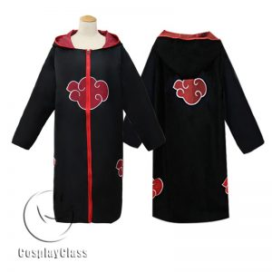 Naruto Shippuuden Akatsuki Coat Cos Cosplay Costume