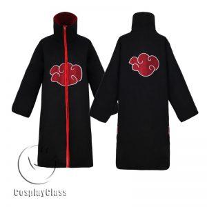 Naruto Shippuuden Akatsuki Standing Collar Cos Cosplay Costume