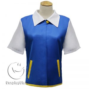 Pokemon Ash Ketchum Cos Cosplay Costume