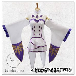 Re:Zero - Starting Life in Another World Emilia Cos Cosplay Costume