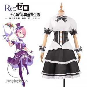 ReZero Starting Life in Another World Ram Birthday Party Cosplay Costume