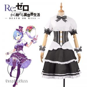 ReZero Starting Life in Another World Rem Birthday Party Cosplay Costume