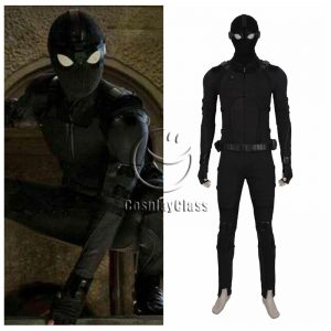 Spider-Man Far From Home Peter Parker Spider Man Black Cosplay Costume