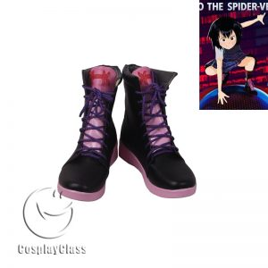 Spider-Man Into the Spider-Verse Peni Parker Black Pink Cosplay Shoes