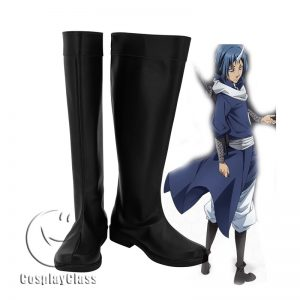 That Time I Got Reincarnated as a Slime Souei Black Cosplay Boots